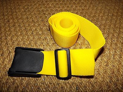 scuba diving weight belt yellow underwater NEW unused Fixlock 350 plastic buckle