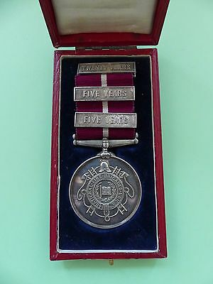 1911 National Fire Brigades Union Sterling Silver Thirty Years Service Medal