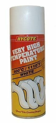Hycote White VHT Very High Temperature 400ml Aerosol Spray Paint Up to 600C1110F