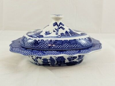 Blue Willow Covered Casserole/Vegetable/Soup Serving Dish w/ Lid