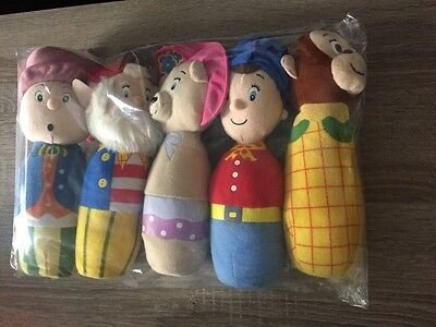 NODDY SKITTLE SET Soft Toy Bowling Set - 5 Characters