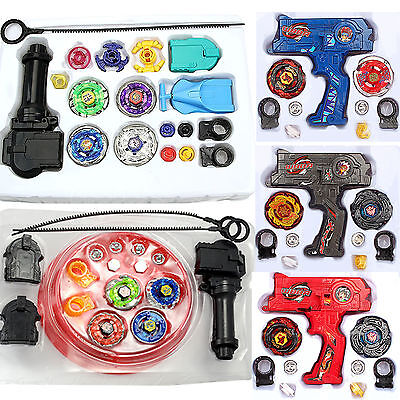 4D Beyblade Set Metal Masters Top Fusion Rotate Rapidity Fight Launcher Kid Toy