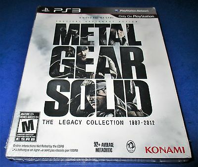 Metal Gear Solid: The Legacy Collection 1987-2012 PS3 w/ Exclusive Art Book!