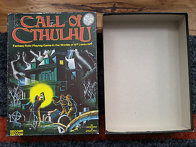 Call of Cthulhu - Box. From the early (1980s) Games Workshop print of the rules.