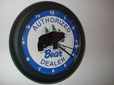 Bear Auth. Archery Bow Hunting Compound Store Wall Clock Man Cave Sign