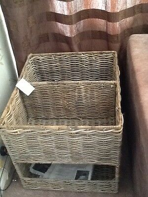 White Company Kuba segmented log basket