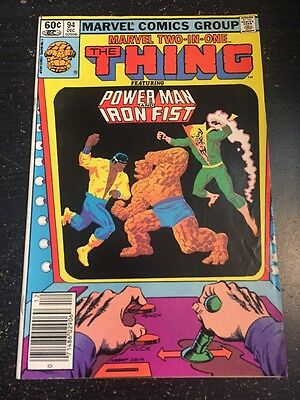 Marvel Two-in-one#94 Awesome Condition 8.0(1982) Power Man And Iron Fist!!