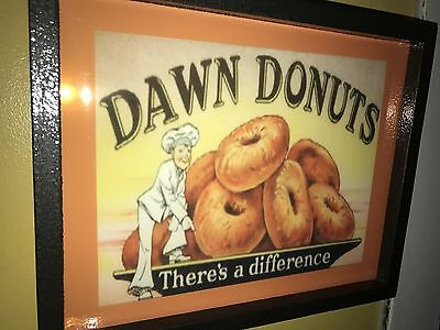 Dawn Donuts Doughnuts Bakery Kitchen Sideways Lighted Advertising Sign