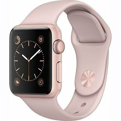 Band New Apple Watch Series 1 38mm Rose Gold Aluminum Case with Pink Sport