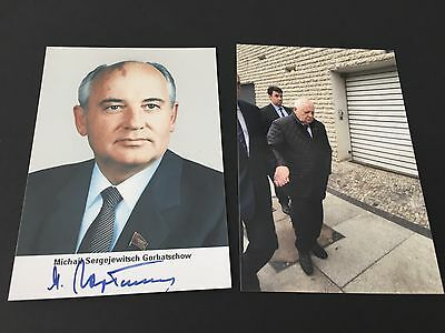 MICHAIL GORBATSCHOW  Михаил Сергеевич  In-person signed Photo 10x15 Autogramm