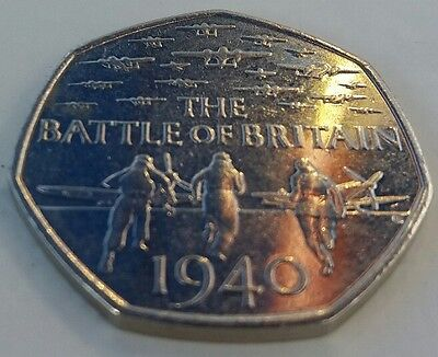 50p coin The Battle of Britain 1940 50p pence coin !!