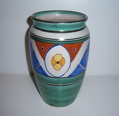 """EARLY COLLARD HONITON POTTERY HAND PAINTED VASE 8"""" HIGH c.1920's / 1930's"""