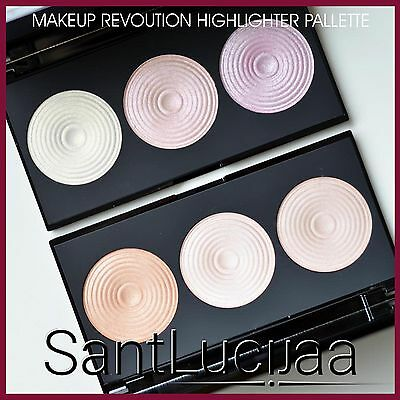 Makeup Revolution Highlighter Palette Highlighting Shimmer Contouring Bronze