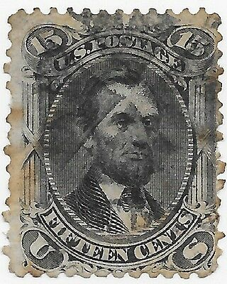 US Rare Stamps Collection Scott#77 Lincoln  Used Margin Hinged Remaining