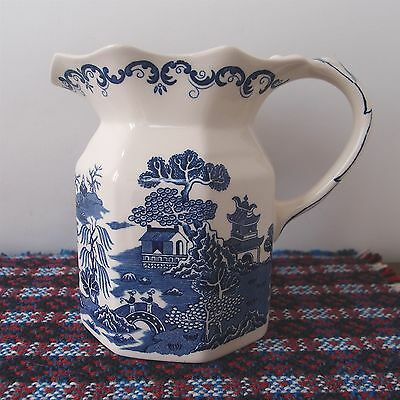 "Ringtons Masons Willow Jug Blue & White 75th Anniversary - 14cm / 5½"" Tall"