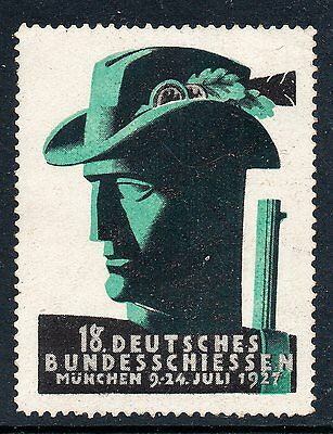Germany 1927 Shooting Competition  poster stamp