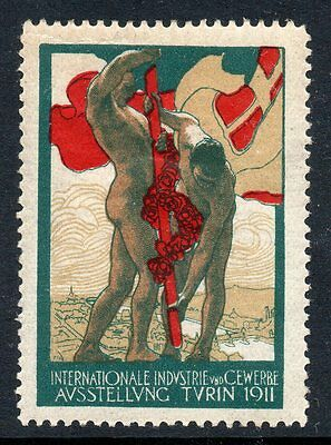 Germany 1911 Turin Industrial Exhibition  poster stamp