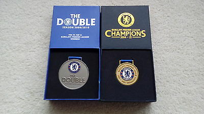 Two Chelsea Premier League Champions 2009/10 & 2014/15 Boxed Medals Not Badge