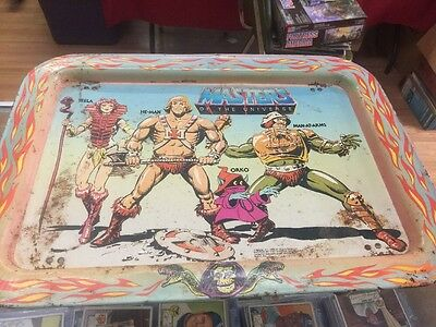 He-Man Masters of the Universe vintage Kids lunch TV tray Tin MOTU vintage rare