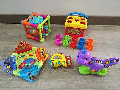 Bundle Baby Activity Toys ELC * VTech * Leapfrog Lettersaurus Cube Fisher Price