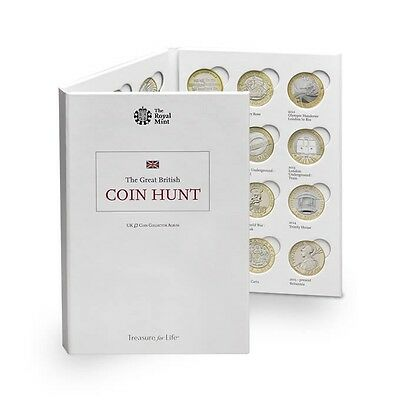 Brand New Royal Mint UK £2 Coin Collection Album The Great British Coin Hunt