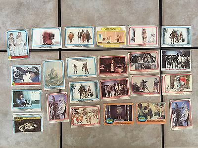 Star Wars Empire Strikes Back Trading Card Lot of 23 OPC