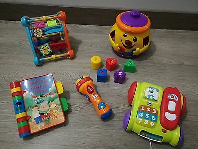 Bundle Baby Activity Toys ELC Cube * Vtech Book Fisher Price Cookie Chicco Phone