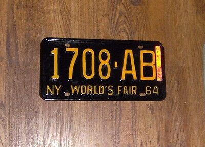 1964 1965 New York License Plate for Ford Chevy Dodge Cadillac Plylmouth