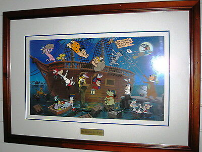 THE BOSTON TEA PARTY Hanna Barbera - Animation Art Hand Painted Cel. Signed Mint
