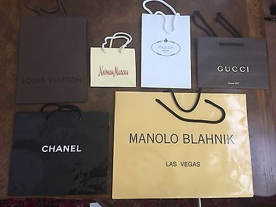High End Designer Store Paper Shopping/ Gift  Bags SIX (6)