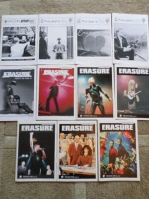 ERASURE Private Ear magazines (official EIS) no. Issues 20-30