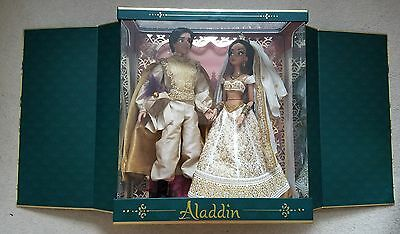 Disney Store Aladdin and Jasmine Limited Edition Wedding Doll Set 1of 250