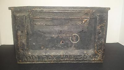 Vintage H Us 50 Cal Ammo Can Amm. Box Cal. .50 M2
