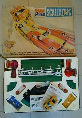 Scalextric You Steer Ys300 Set Boxed With Two Cars And Lambougina