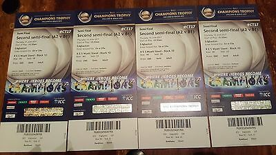 6 Gold ICC Champions Trophy tickets India vs Bangadesh - Edgbaston 15th June