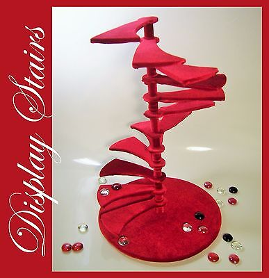 Royal Velvet Spiral Stairs Staircase Barbie FR Furniture 4 Doll Diorama Handmade