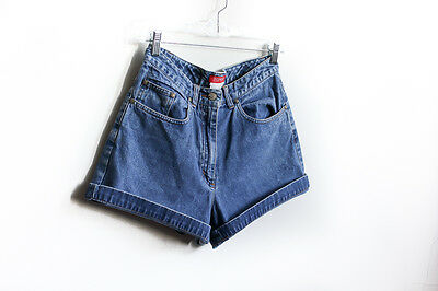 90's Espirit High Waist Vintage Womens Blue Denim Jean Shorts Size Small