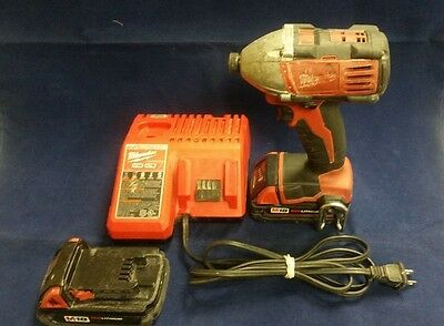 Milwaukee Impact Driver Model 2650-20 18V With 2 Batteries