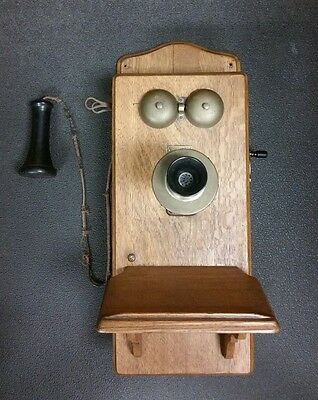Antique Century Wood Wall Mount Phone