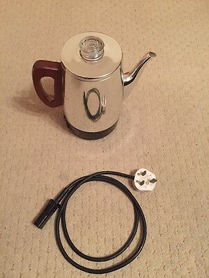 Retro Sona Electric Coffee Percolator - Stainless Chrome Finish PJ30