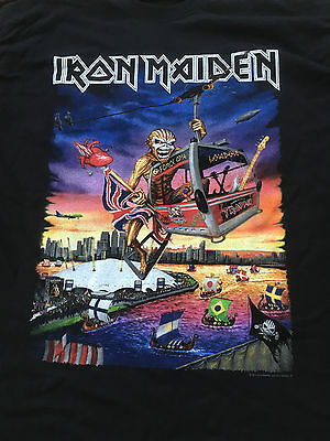 Iron Maiden Shirt XL Book of Souls O2 London Event Shirt 2017