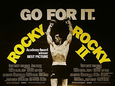 """Rocky / Rocky 2 16"""" x 12"""" Reproduction Movie Poster Photograph"""