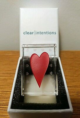 Clear Intentions Love Heart Paperweight Glass Keepsake Gift Present Anniversary