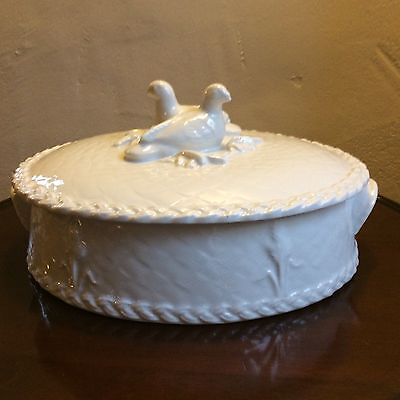 Royal Worcester Gourmet Oven China Oval Casserole With Game Birds Decorative Lid