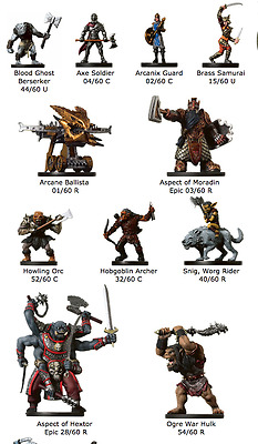 Dungeons & Dragons War Drums Miniatures - Near-Complete Set - Lot of 59 Minis