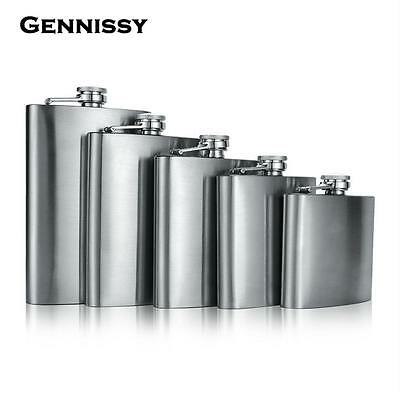 Stainless Steel Flask Liquor Whisky Pocket Flasks Portable Outdoor Alcohol Hip