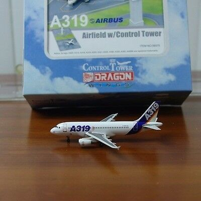 """Dragon Airbus Industries A319 1:400 """"1990s House & Tower"""" (56075 / 55317) FG-12"""