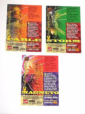 1994 Marvel Fleer Ultra X-Men Insert 3 Promo Card Lot Sega Game Gear Cable Storm