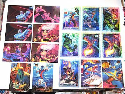 1994 Marvel Masterpieces Insert 17 Card Lot Hildebrandt! Powerblast Holofoil!