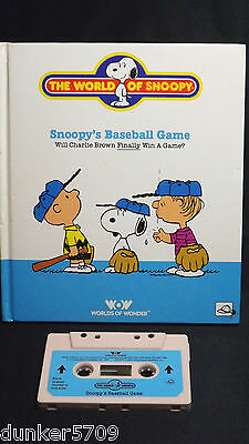 Talking Snoopy Book/tape Snoopy's Baseball Game Works 1986 Worlds Of Wonder